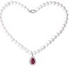 Tico 蒂蔻 T0536 时尚水滴珍珠项链女款 珍珠 48cm