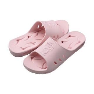 BAIHOU 白猴 浴室洗澡侧漏水防滑按摩情侣居家用凉拖鞋女 T-1801 粉红36-37码