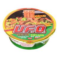 NISSIN 日清食品 UFO飞碟炒面多口味速食拌面方便面 耗油牛肉风味123g/碗