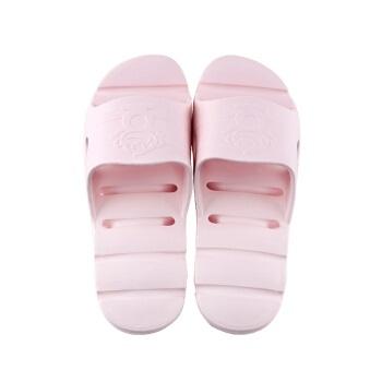 BAIHOU 白猴 侧漏水沙滩时尚情侣防滑按摩家居浴室凉拖鞋 T-1802 粉红 39-40