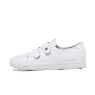 LAIKAJINDUN 莱卡金顿 韩版时尚女士平底低系带潮流休闲鞋 6652 白色(魔术贴) 38