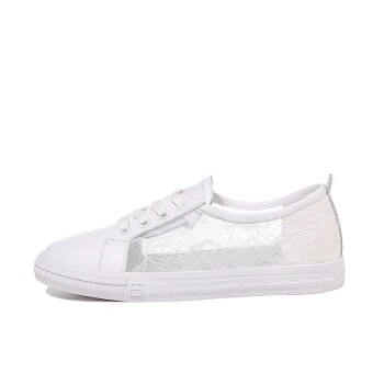 LAIKAJINDUN 莱卡金顿 韩版时尚女士平底低系带潮流休闲鞋 6642 白色(系带) 38