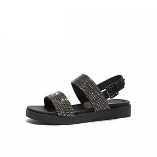 hotwind 热风 女士时尚凉鞋 H50W9609 01黑色 39