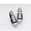 人本 平底经典帆布鞋男女情侣款潮黑色  rb2092019 男款42