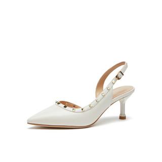 hotwind 热风 H35W9514 女士时尚单鞋 04白色 38