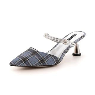 ST&SAT 星期六 专柜同款格力特时尚中后空小猫跟单鞋拖鞋两穿 SS91114264 蓝色 34