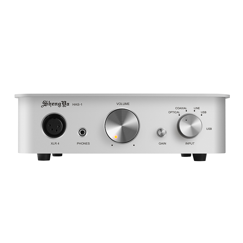 声雅 HAS-1 台式耳放解码一体机单声道运放发烧耳机放大器 银色