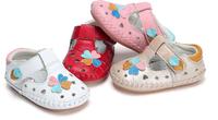 春夏季真皮女童镂空学步鞋