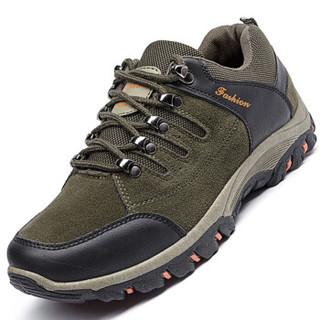 Apple 苹果 男士户外运动登山透气耐磨软底厚底休闲鞋子 SK02 军绿 42