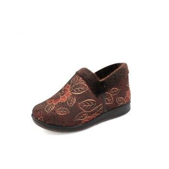 步瀛斋 老北京布鞋女棉鞋平跟软底居家休闲棉鞋 B2463 女棉鞋 棕色 39