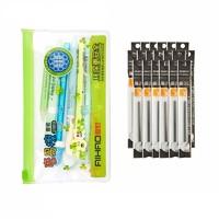 AIHAO 爱好 可擦中性笔 0.5mm 晶蓝  6支装+20支笔芯