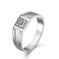 一搏千金(YBQJ)18K金50分FG色求订婚钻石戒指男戒结婚钻戒AG084