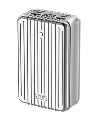 ZENDURE SuperTank 手机充电宝PD快充100W 27000毫安移动电源 银色