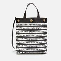 BALMAIN 巴尔曼 Canvas Logo  粒面皮女款手提包
