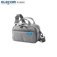 ELECOM 宜丽客 DGB-S0 单反相机包 帆布手提斜跨off toco 相机包 灰色