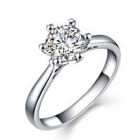 一搏千金(YBQianJin)BG002 白18K金40分FG色钻石戒指 结婚戒指 单钻婚戒