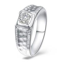 一搏千金(YBQianJin)AG031 NGTC国检18K金钻石男戒 共28分IJ色结婚钻石戒指男款 男士婚戒