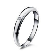 一搏千金(YBQianJin)AG001 NGTC国检 18K金钻石戒指 3分求订婚男戒