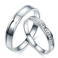 鸣钻国际 珠联璧合 PT950铂金钻戒男 白金钻石戒指订婚结婚男戒 情侣对戒男款
