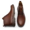goldlion 金利来 男士休闲舒适牛皮耐磨高帮系带鞋靴527820315CRM-深棕色-43码