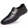 Mexican 稻草人 休闲皮鞋男士正装懒人套脚二层牛英伦潮流 1802 黑色 40