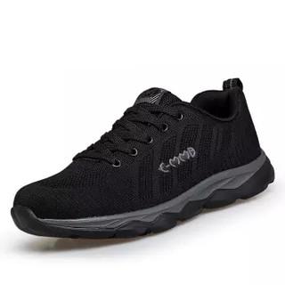 MMB 中老年运动休闲男款老人防滑软底户外健步爸爸鞋 6958  黑色/男款 40