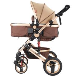 永久(FOREVER) 永久手推车高景观婴儿推车前后避震 儿童宝宝手推车可躺可坐双向推行 金管加州阳光