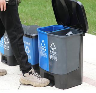 ABEPC 干湿分类垃圾桶 25L