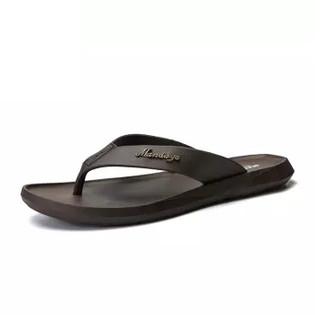 Nan ji ren 南极人 男士时尚简约夹脚户外沙滩人字拖鞋 JRLHH8858 棕色 41