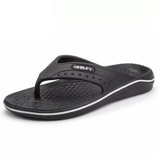 Nan ji ren 南极人 男士时尚简约夹脚户外沙滩人字拖鞋 JRLHH2012 黑白 39