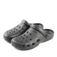 APPLE 苹果鞋 透气防滑软底镂空洞洞一脚拖凉鞋男 XDB-1705 黑色 41
