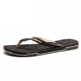 Nan ji ren 南极人 男士时尚简约夹脚户外沙滩情侣款人字拖鞋 JRLHH8851 男款棕色 42