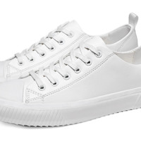 Haut Ton 皓顿 时尚休闲男鞋英伦短中高帮马丁男靴子  XB007 白色 42