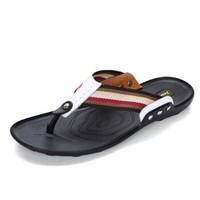 GOLDPOOL 高尔普 男士潮流透气休闲户外沙滩人字凉拖鞋 19158GEP825 白色 41