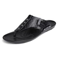 GOLDPOOL 高尔普 男士潮流透气户外休闲沙滩人字凉拖鞋 19158GEP828 黑色 41