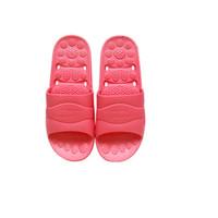 快鹿 家居浴室软底防滑沙滩洗澡男女情侣休闲按摩漏水浴室凉拖鞋 2021 粉红色
