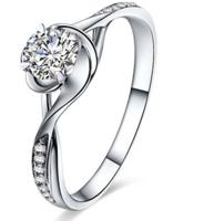 鸣钻国际 时光 白18k金钻戒女款 群镶钻石戒指结婚求婚女戒 钻石对戒女款 共约26分
