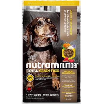 nutram 纽顿 T27 无谷系列 狗粮 去骨鸡肉 1.82kg  *2件