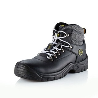 DDTX 劳保鞋CE钢包头防砸 防穿刺凯夫拉板安全 高帮防尘缓震舒适工作 GD6000 黑色 46