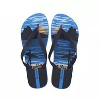 IPANEMA 巴西男士都市型男防滑沙滩平底拖鞋 25373 深蓝色 39/40