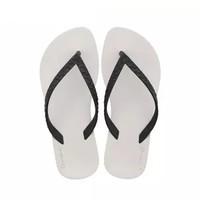 IPANEMA 巴西RJ设计师系列防滑沙滩平底拖鞋 黑/米  82121 45/46