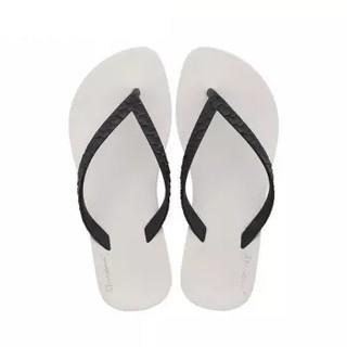 IPANEMA 巴西RJ设计师系列防滑沙滩平底拖鞋 82121 黑/米 41/42