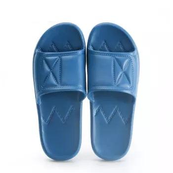 InteRight 时尚经典浴室拖鞋 轻简软弹休闲洗澡凉拖鞋 男款 藏青44-45 IN1901