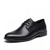 LAORENTOU 老人头 皮鞋男士商务正装系带软面牛皮舒适简约轻质 83071 黑色 42