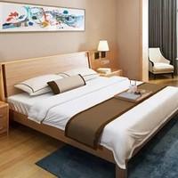 A家家具 北欧实木双人床 1.5米