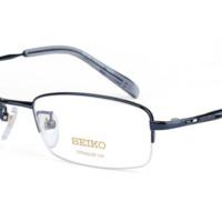 SEIKO 精工 H01061 超轻纯钛半框眼镜框(送康视顿1.60防蓝光镜片2片)