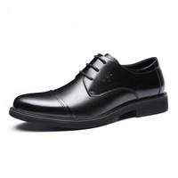 红蜻蜓(RED DRAGONFLY)商务时尚正装休闲皮鞋 WTA87721/22 黑色 42