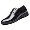 蜻蜓牌 绅士增高皮鞋男职场精英牛皮商务正装鞋低帮系内增高男鞋 X7-1 黑色 41码