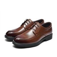 Fuguiniao 富贵鸟 男士正装商务休闲皮鞋舒适系带工作 B801021 棕色 43