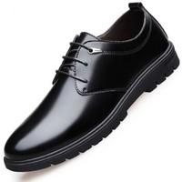 APPLE 苹果鞋 男士正装经典系带英伦风圆头软底耐磨商务休闲皮鞋  508  黑色 42
